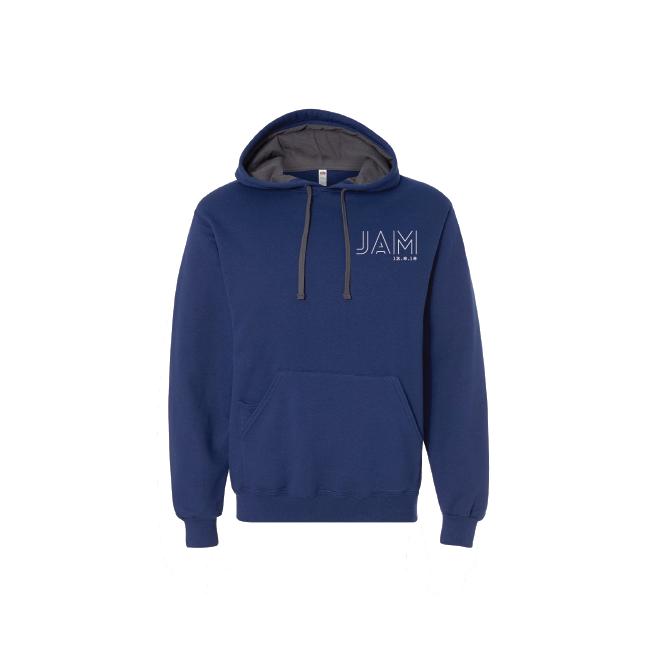 Contrast Drawstring Hooded Sweatshirt